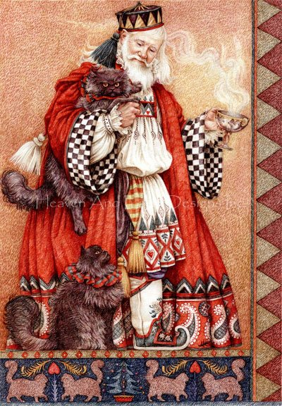 Father Christmas And Cats Max Colors