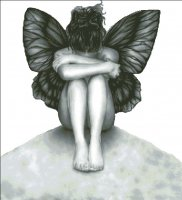 Sad Butterfly Girl NO Background