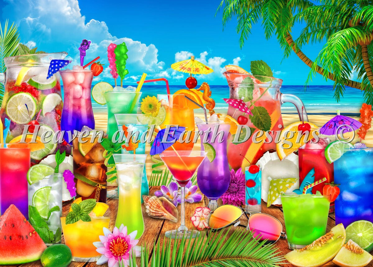Supersized Drinks On The Beach Max Color Material Pack