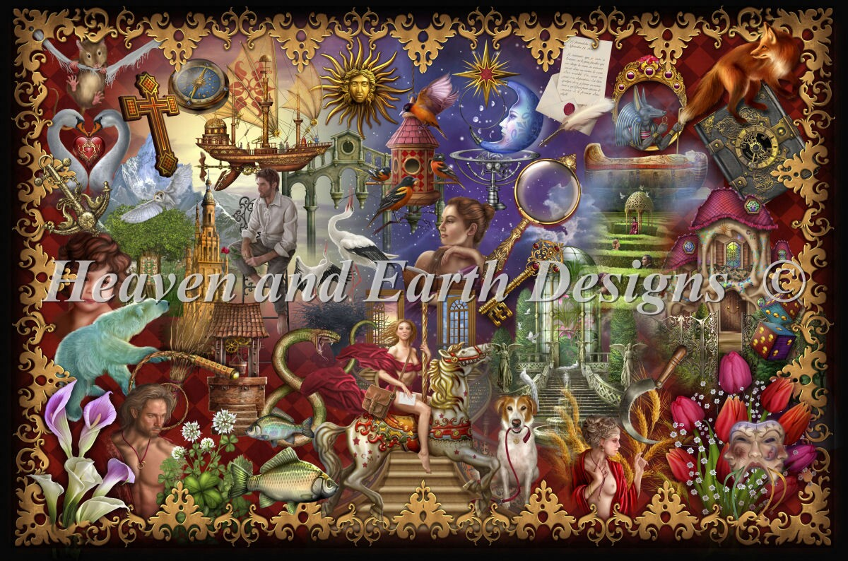 Supersized Gilded Reverie Lenormand Max Color