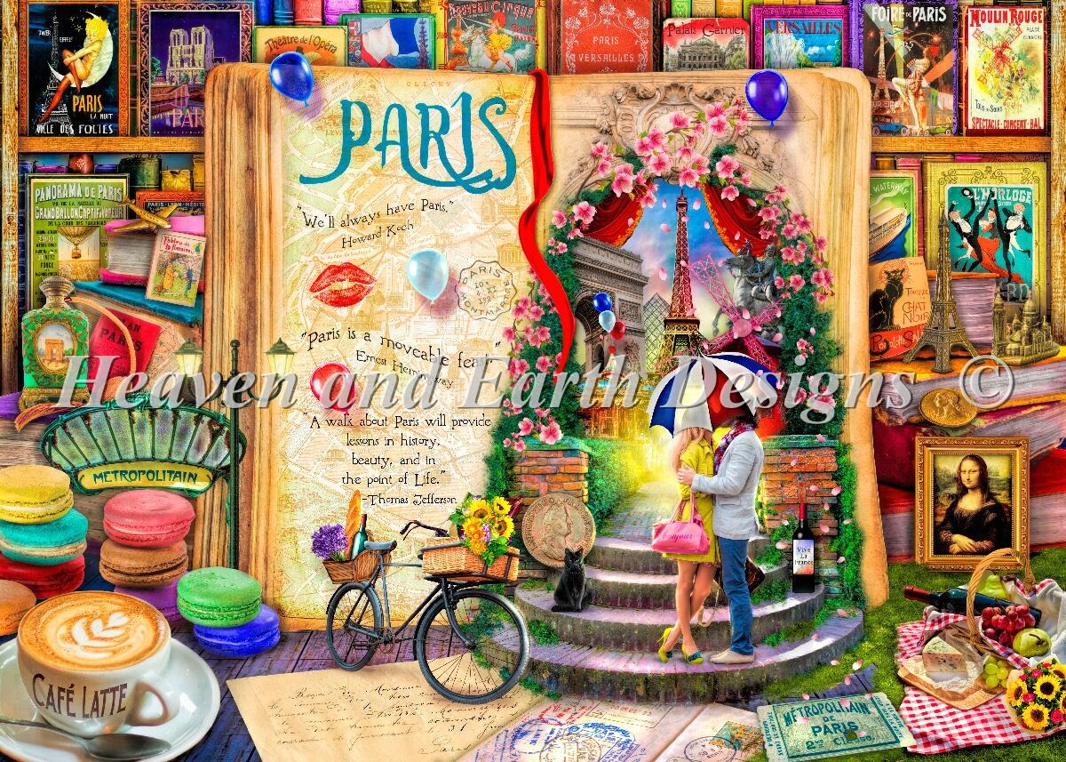Supersized Life Is An Open Book Paris Max Color Material Pack