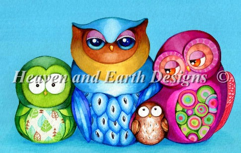 Owl Family Portrait Material Pack