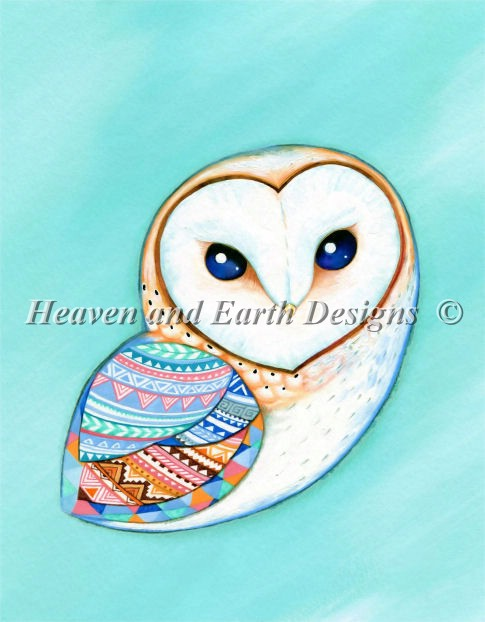 Tribal Pattern Barn Owl