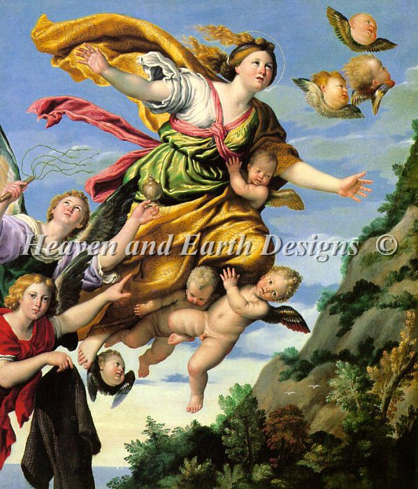Domenichino-The Assumption of Mary Magdalene into Heaven - Click Image to Close