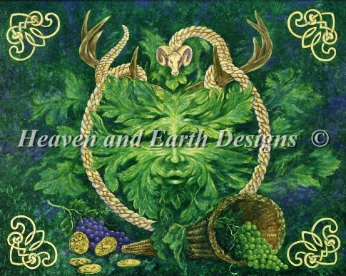 Green Man Cernunnos - Click Image to Close