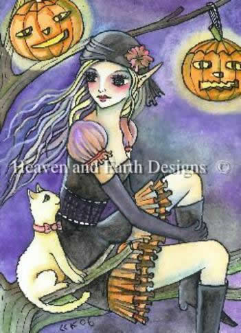 QS Halloween Kitty Witch