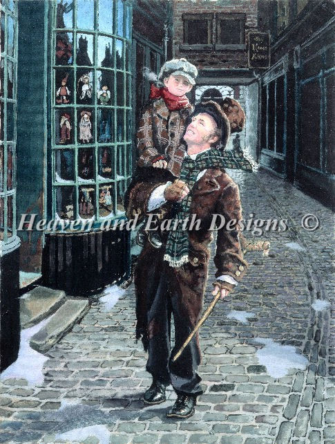 Bob Cratchit and Tiny Tim - Click Image to Close