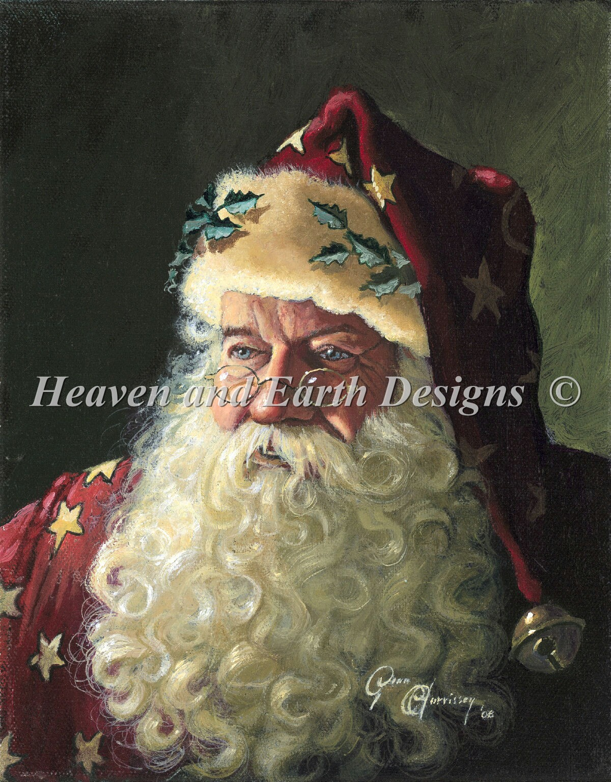 Portrait Of Father Christmas Max Color