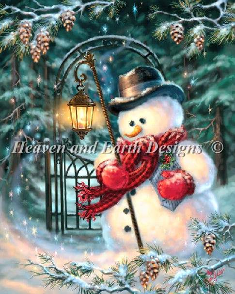 The Enchanted Christmas Snowman - Click Image to Close