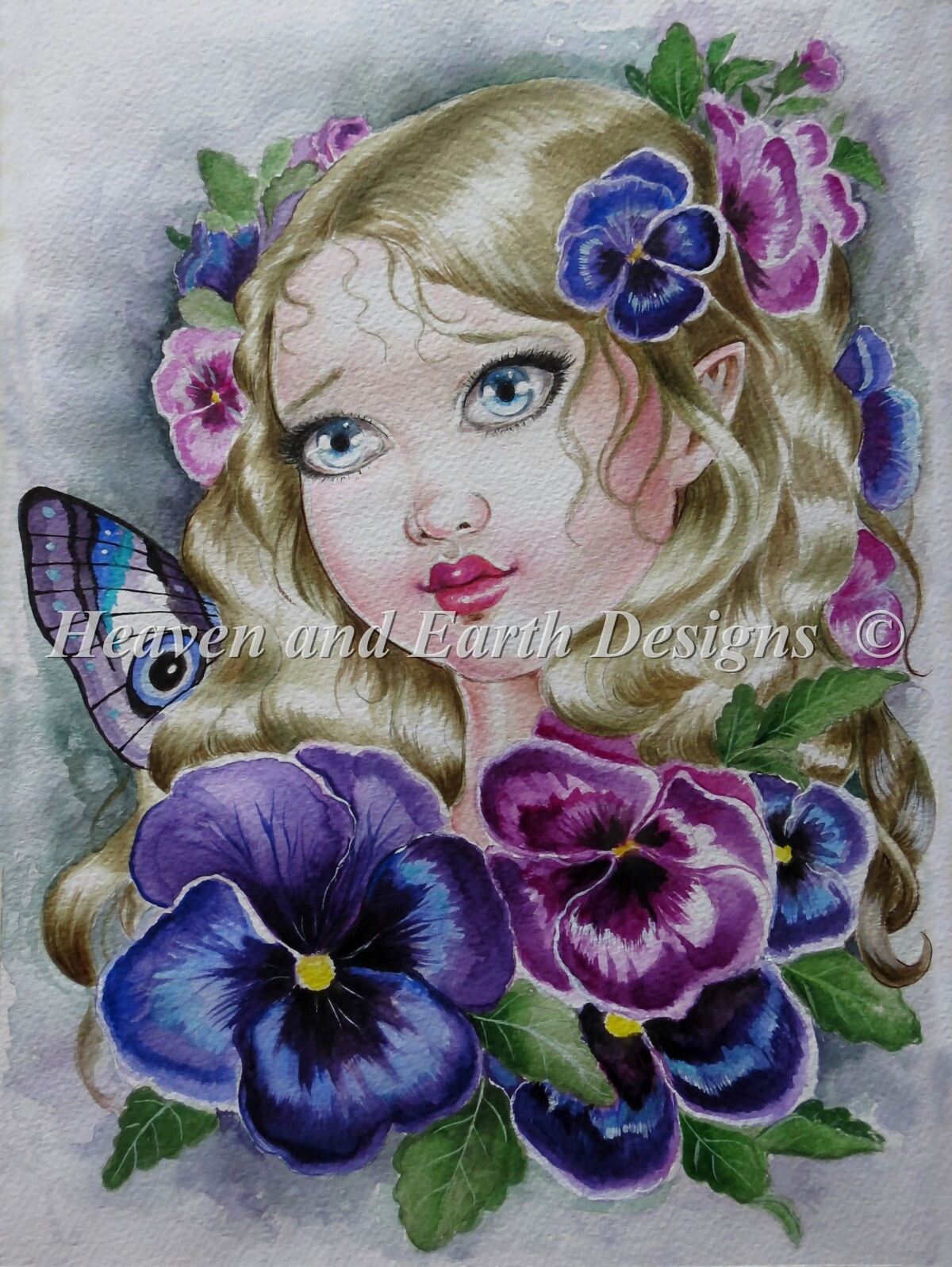 Baby Pansy Fairy Material Pack