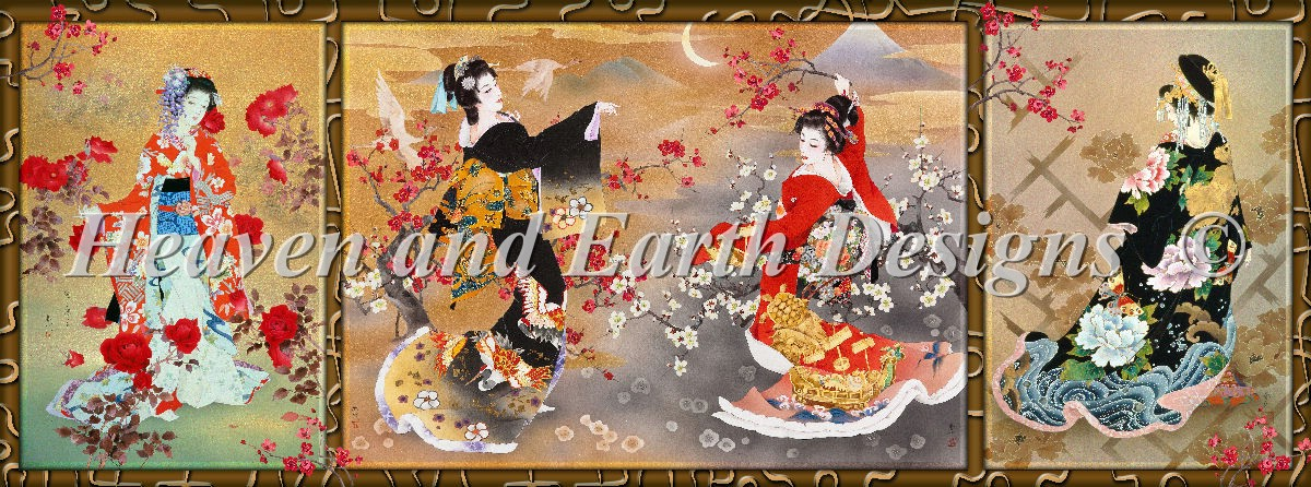 Oriental Triptych Material Pack