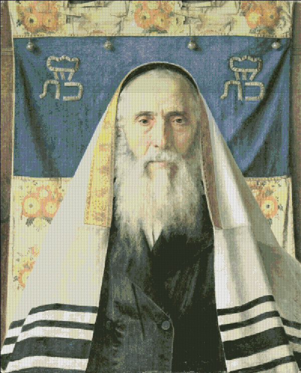 Portrait of Rabbi With Prayer Shawl