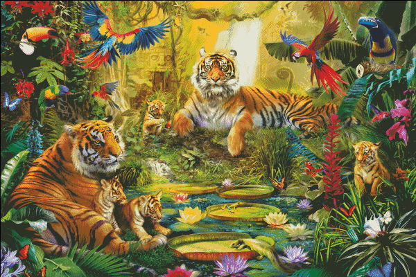 Tiger Family In The Jungle SAS