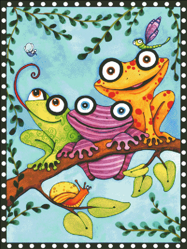 Frogs Trio Branch
