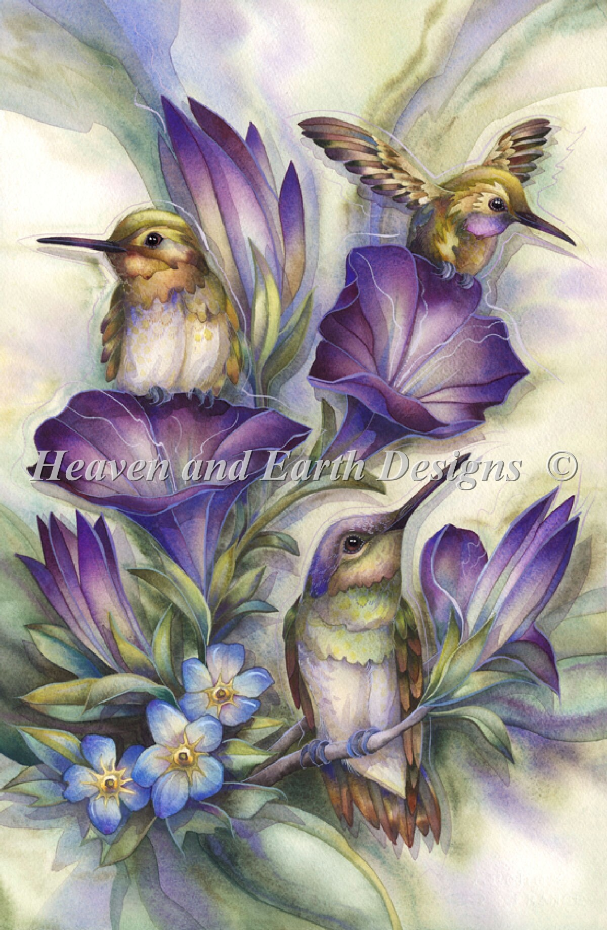 Flower Hummingbirds Material Pack