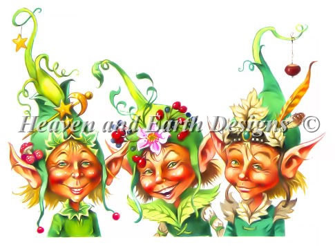 Elves in Fancy Hats - Click Image to Close