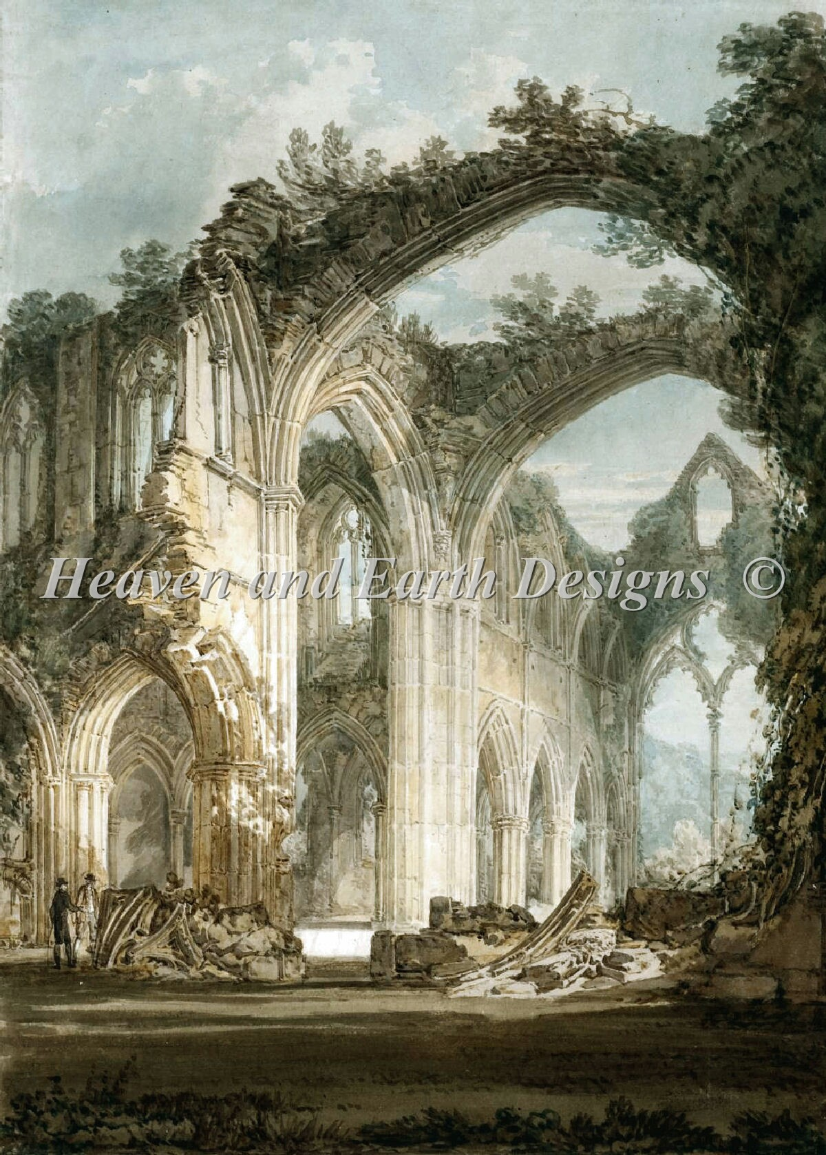 Interior Of Tintern Abbey Material Pack