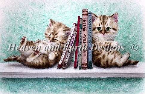 Book End Kitties - Click Image to Close