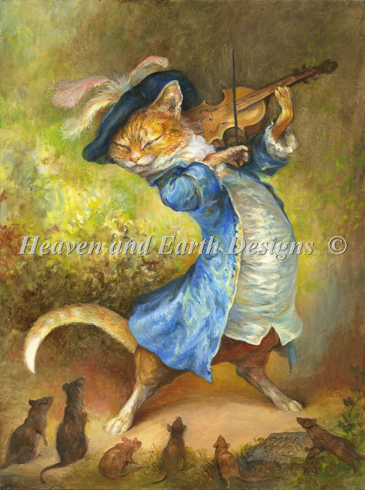 Mini Cat With Fiddle
