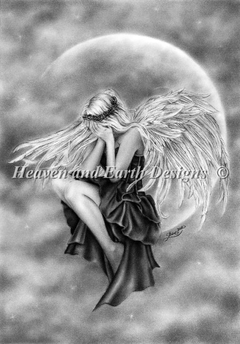 Mini Crying Moon Angel - Click Image to Close