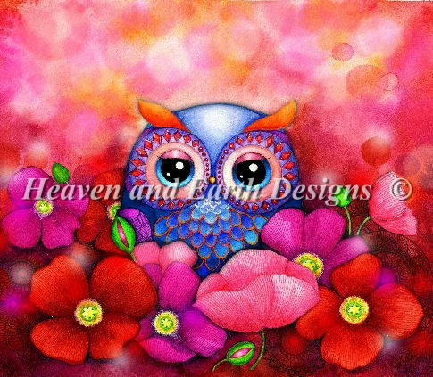 Mini Owl In Poppy Field Material Pack