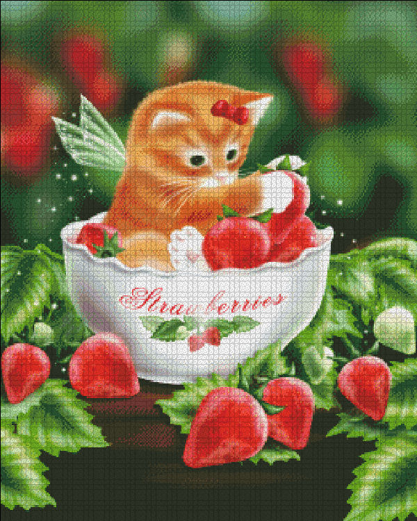 Mini Strawberry Kitten