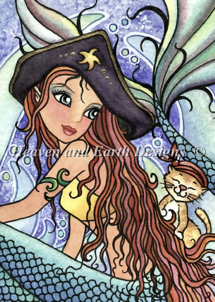 QS Kitty Mermaid Ahoy - Click Image to Close