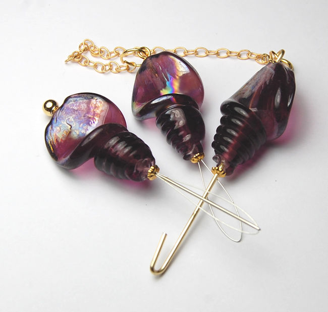 Needlework Tool set - Purple Rain (Gold toned)