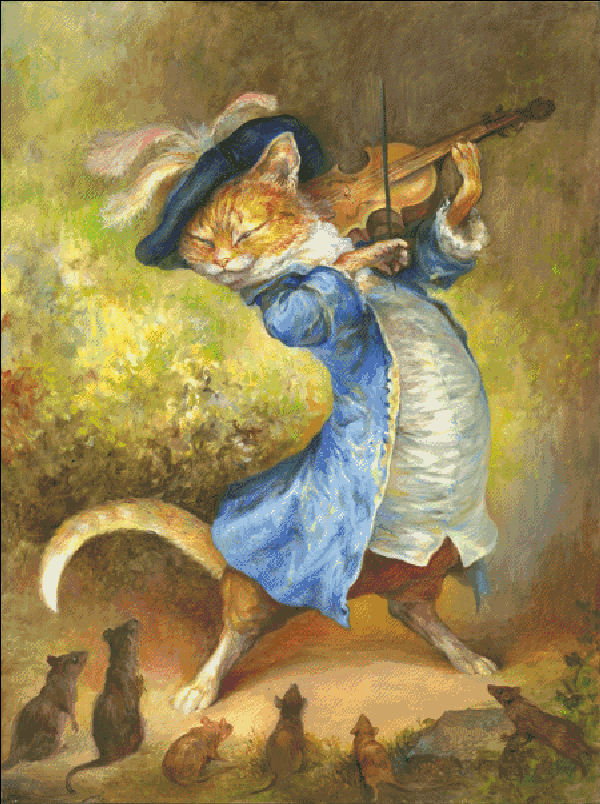 Cat With Fiddle
