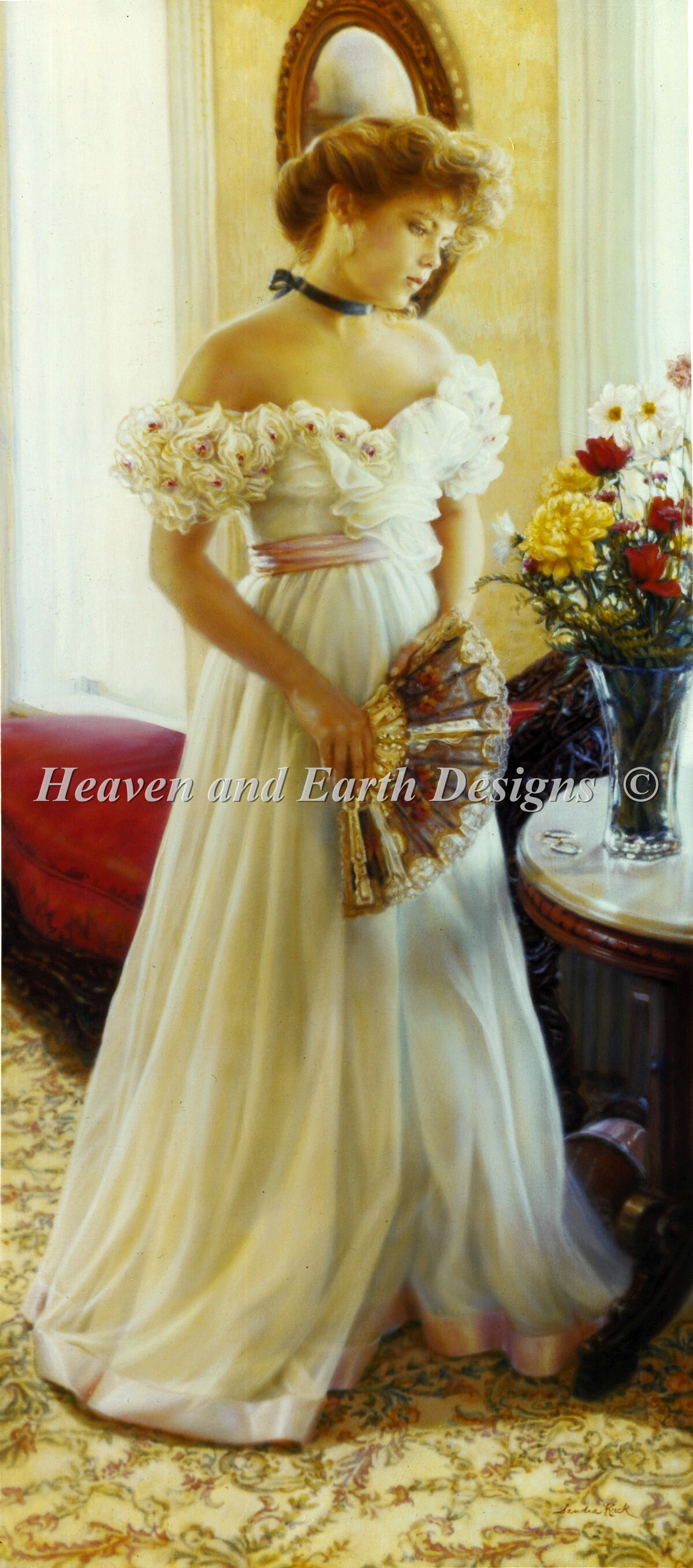 Formal Gown With Fan