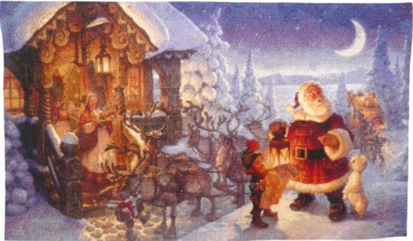 Santa Claus at The North Pole