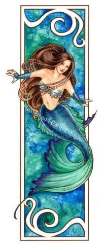 Nouveau Mermaid - Water - Click Image to Close