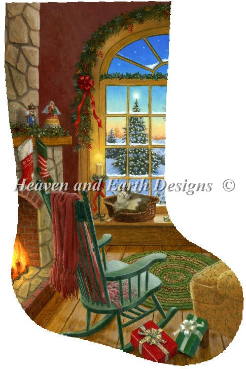 Stocking Cozy Christmas Cat Material Pack