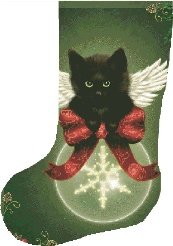 Stocking Merry Little Christmas Cat