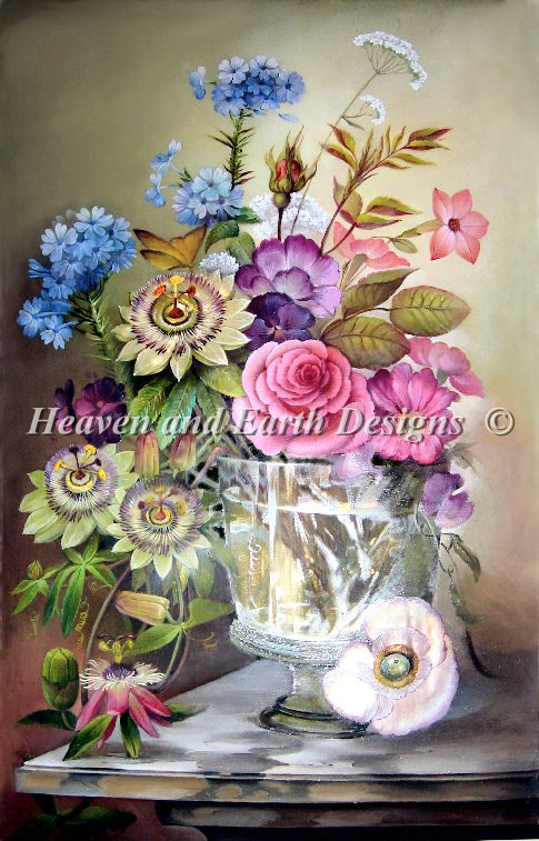 PTP Vase With Flowers - Click Image to Close