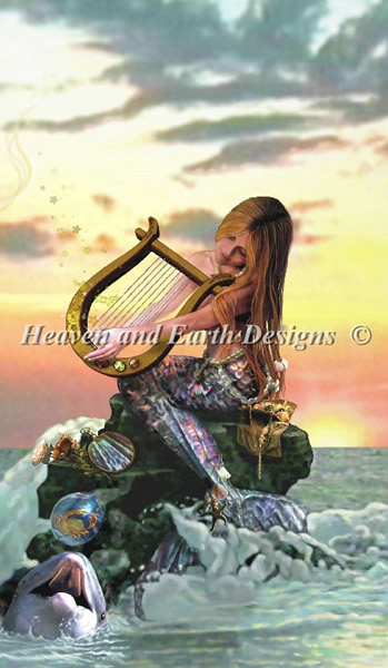 Mermaid With Harp