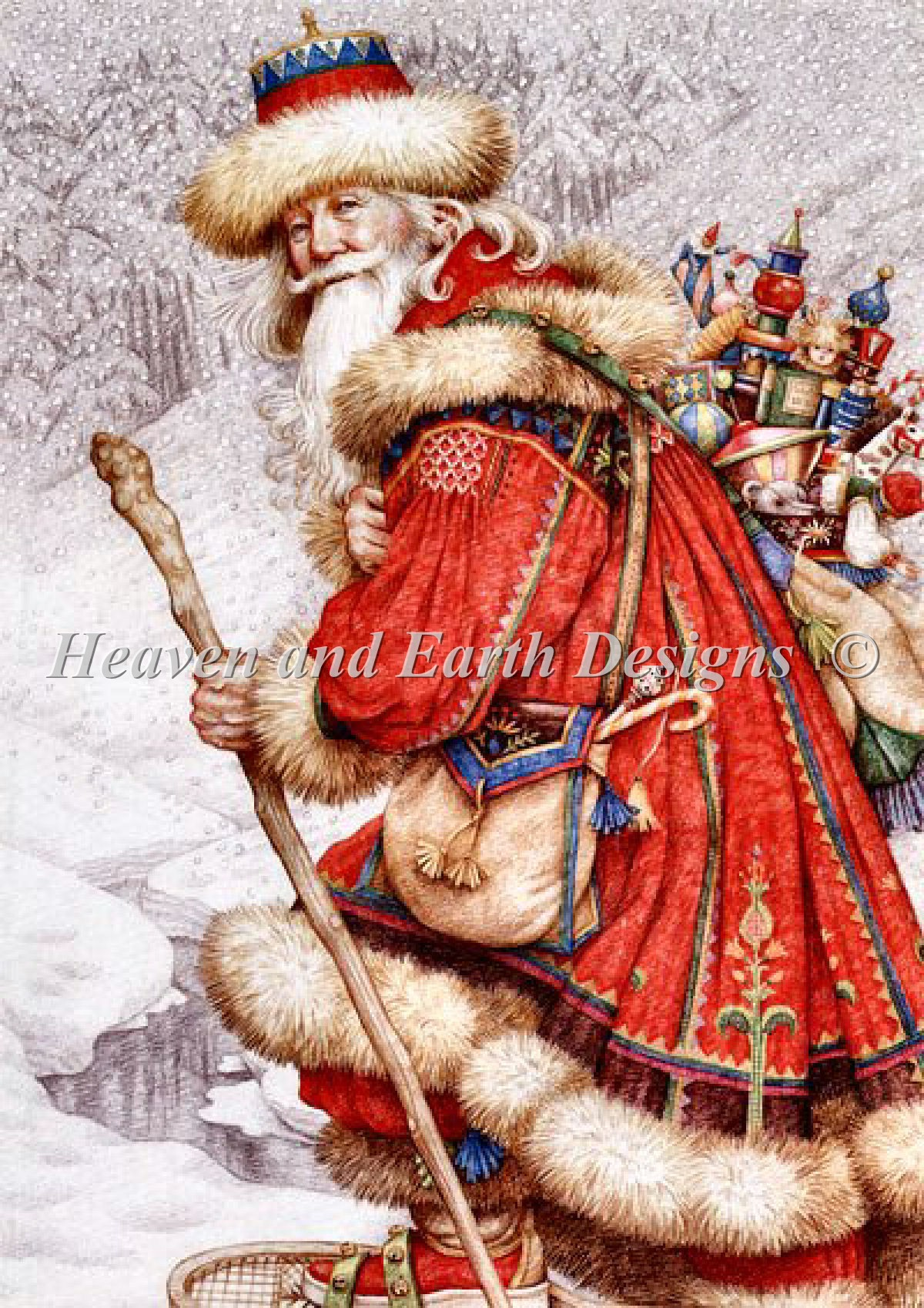 Father Christmas With Toys Max Color